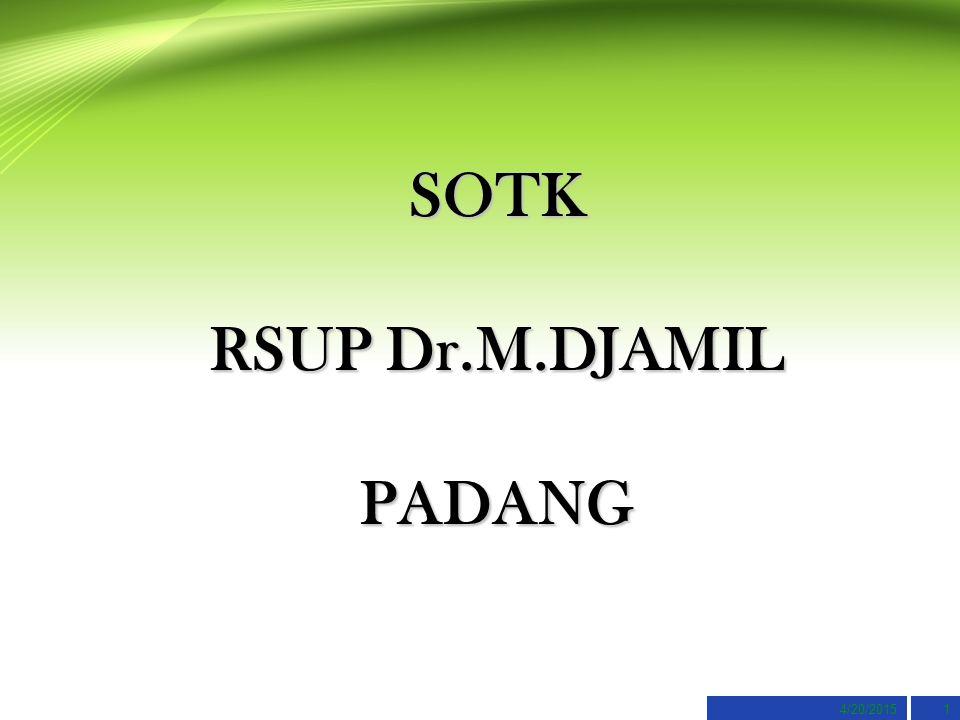 4/20/20151 SOTK RSUP Dr.M.DJAMIL PADANG