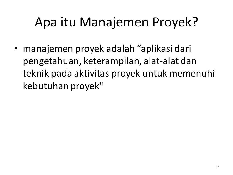 Apa itu Manajemen Proyek.