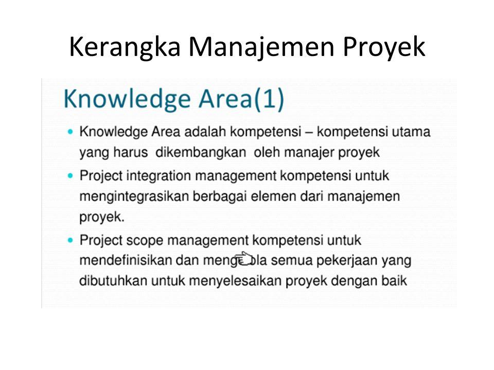 Kerangka Manajemen Proyek