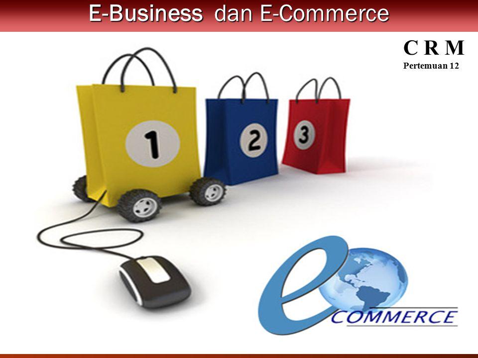 Perkembangan E-Commerce dan E- Business: Peluang dan Permasalahan E-Business dan E-Commerce C R M Pertemuan 12