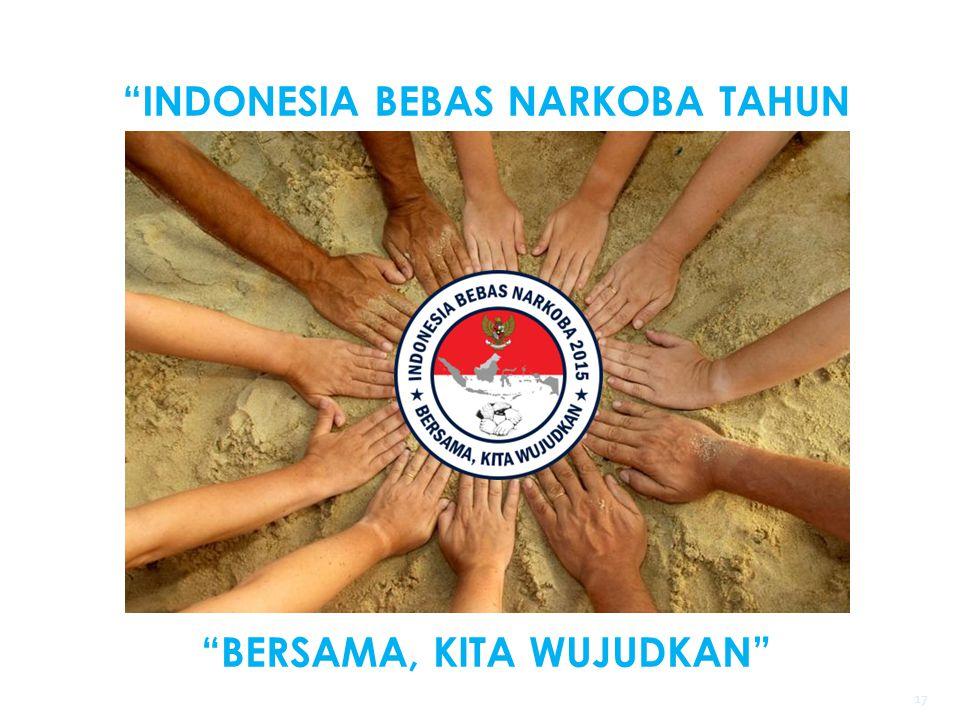 """""""INDONESIA BEBAS NARKOBA TAHUN 2015"""" """"BERSAMA, KITA WUJUDKAN"""" 17"""