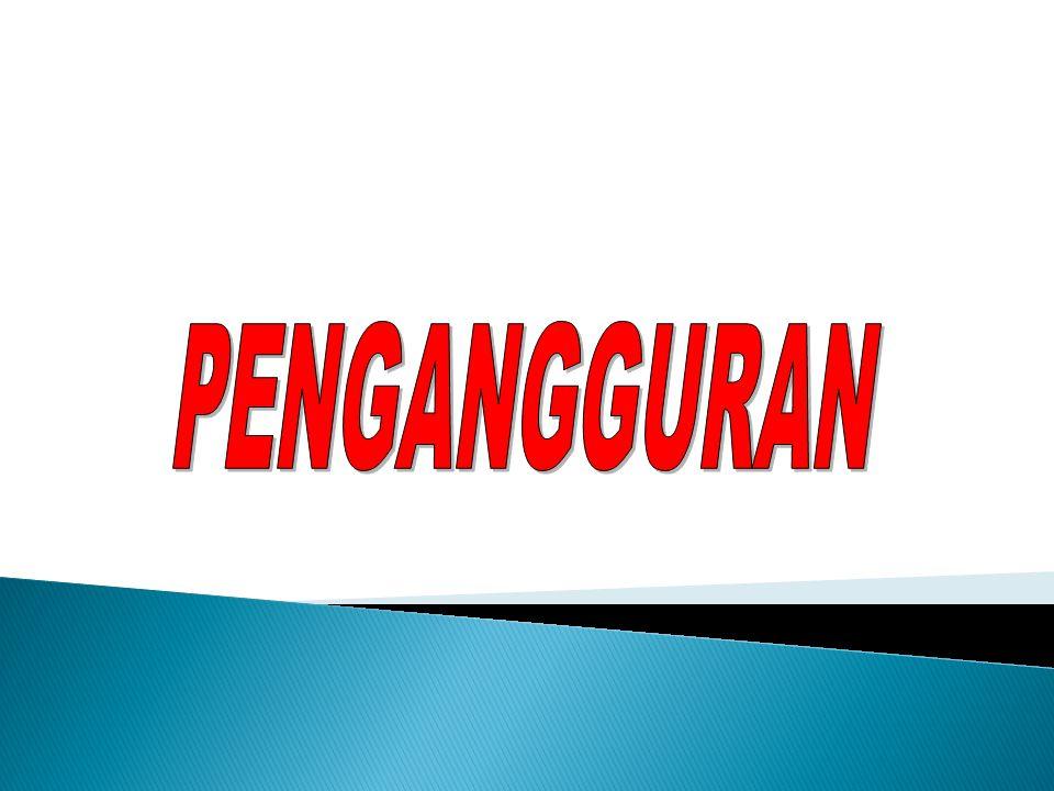  Pengangguran  Dari Wikipedia bahasa Indonesia, ensiklopedia bebas  Pengangguran atau tuna karya adalah istilah untuk orang yang tidak bekerja sama sekali, sedang mencari kerja, bekerja kurang dari dua hari selama seminggu, atau seseorang yang sedang berusaha mendapatkan pekerjaan yang layak.