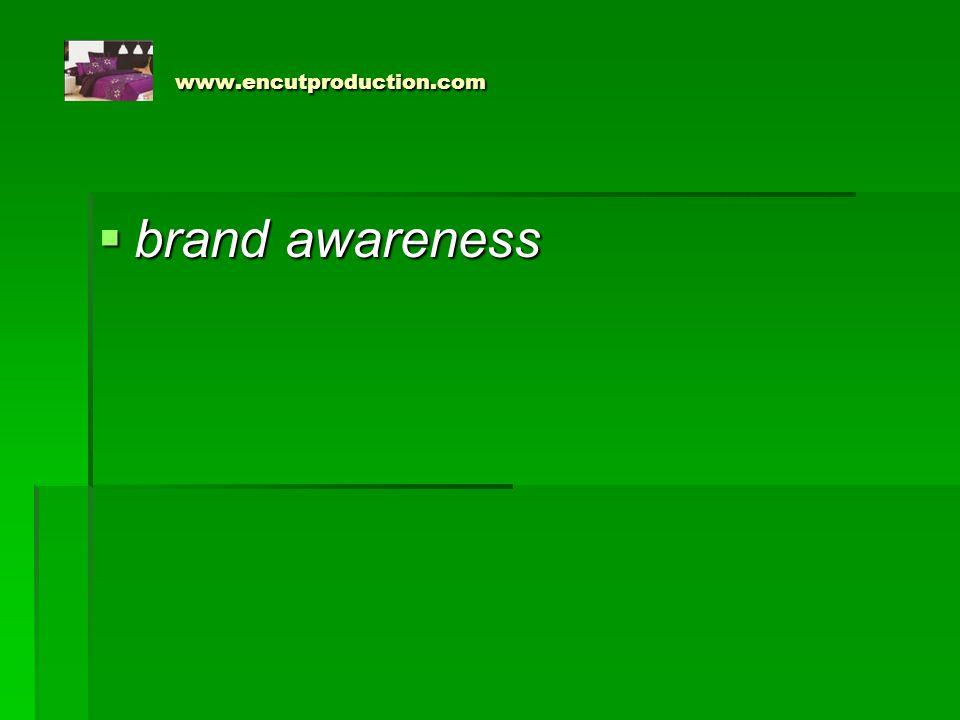 www.encutproduction.com  Pengertian brand awareness menurut Rangkuti (2002;243) adalah kemampuan seorang pelanggan untuk mengingat suatu merek tertentu atau iklan tertentu secara spontan atau setelah dirangsang dengan kata-kata kunci