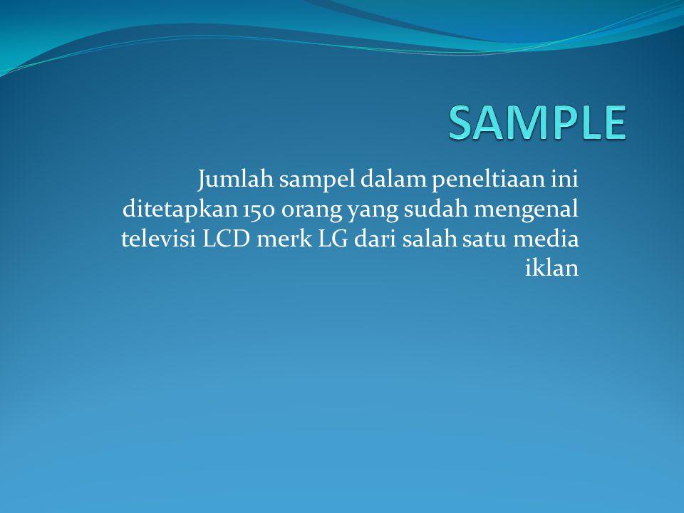 TEKNIK PENGAMBILAN SAMPLE Teknik pengambilan sampel yang digunakan adalah purposive adalah teknik pengambilan sampel dengan pertimbangan tertentu