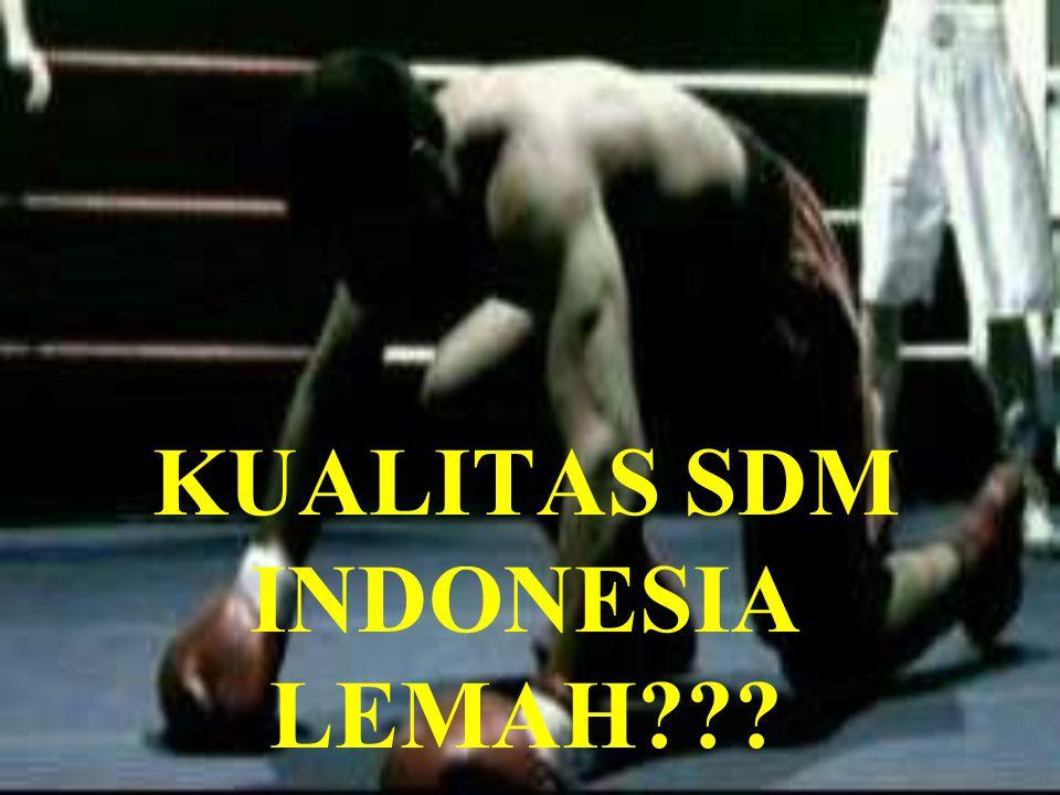 KUALITAS SDM INDONESIA LEMAH???