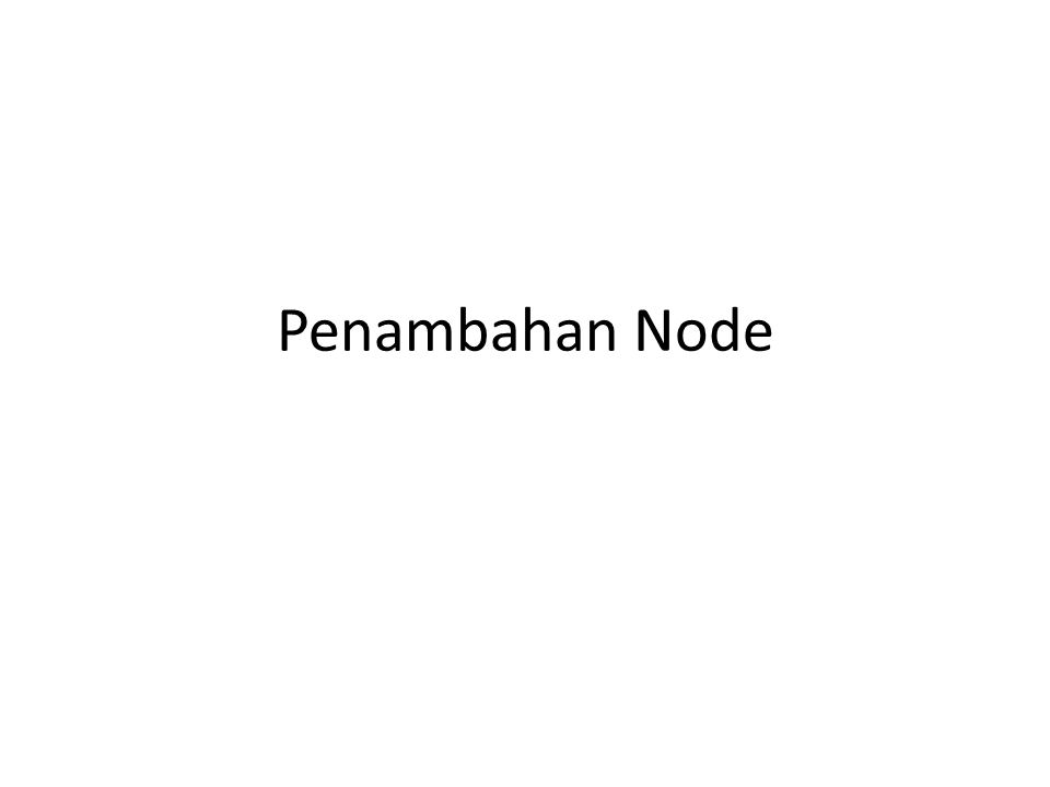 Penghapusan Node 2 beforeNode.next = beforeNode.next.next a b cde null firstNode beforeNode