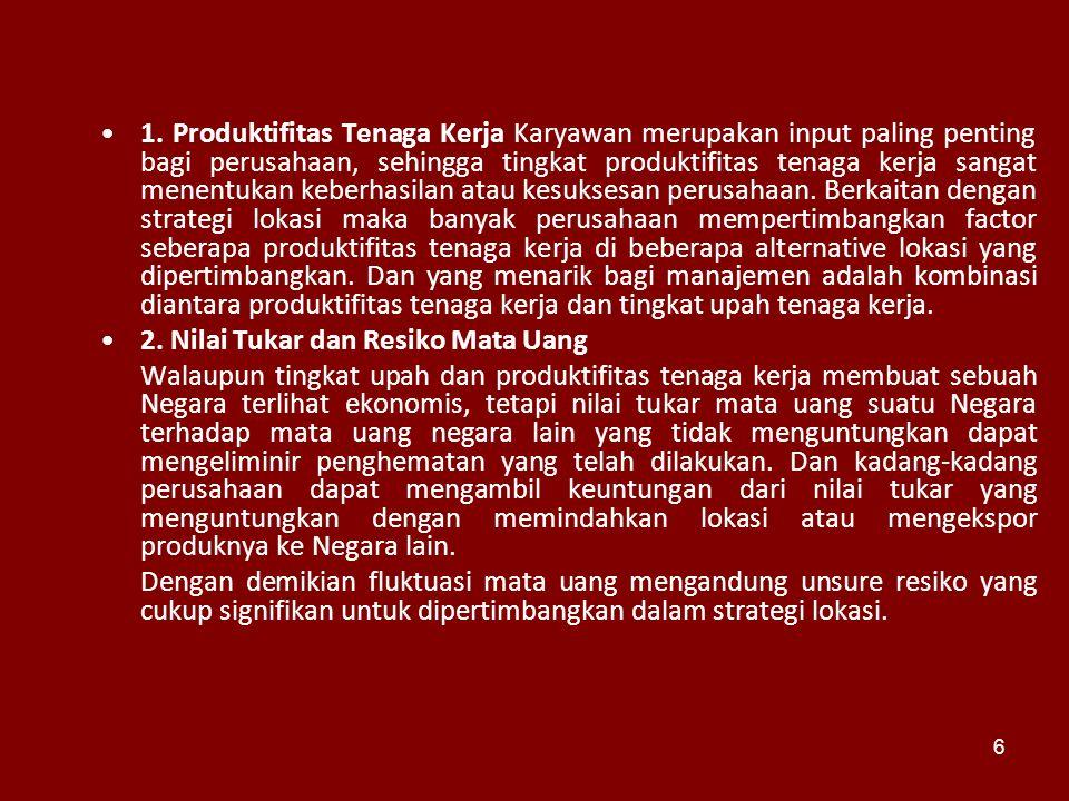 1. Produktifitas Tenaga Kerja Karyawan merupakan input paling penting bagi perusahaan, sehingga tingkat produktifitas tenaga kerja sangat menentukan k