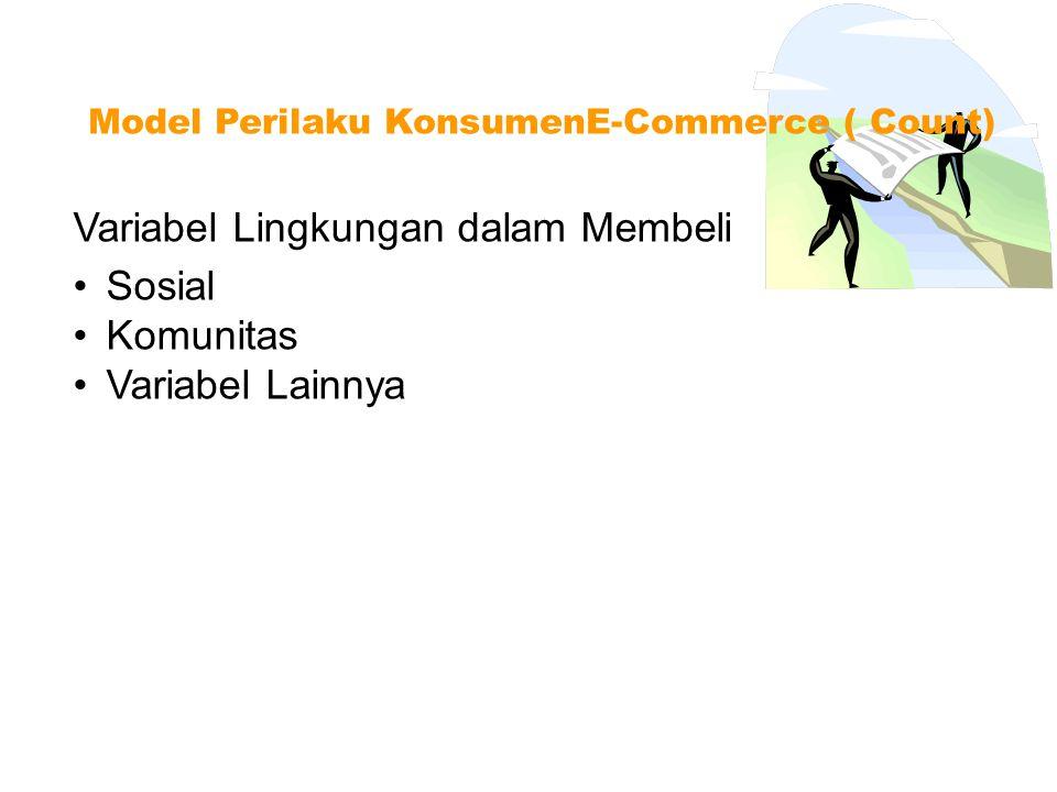 Faktor konsumen dalam membeli Model Perilaku KonsumenE-Commerce ( Count) Pemrakarsa ( Initiator ) Pengaruh ( Influencer ) Kebutuhan