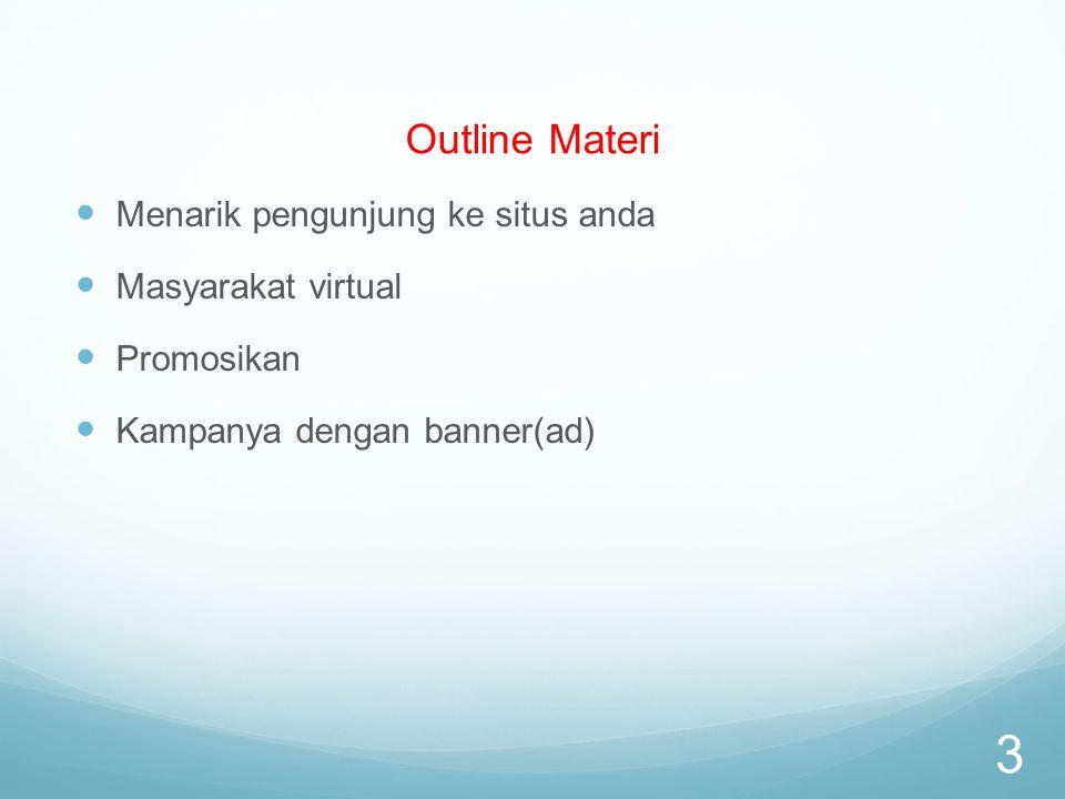 Outline Materi Menarik pengunjung ke situs anda Masyarakat virtual Promosikan Kampanya dengan banner(ad) 3