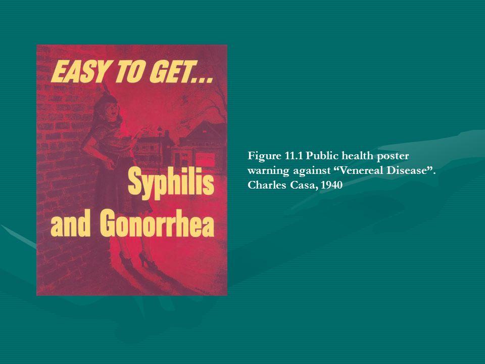 "Figure 11.1 Public health poster warning against ""Venereal Disease"". Charles Casa, 1940"