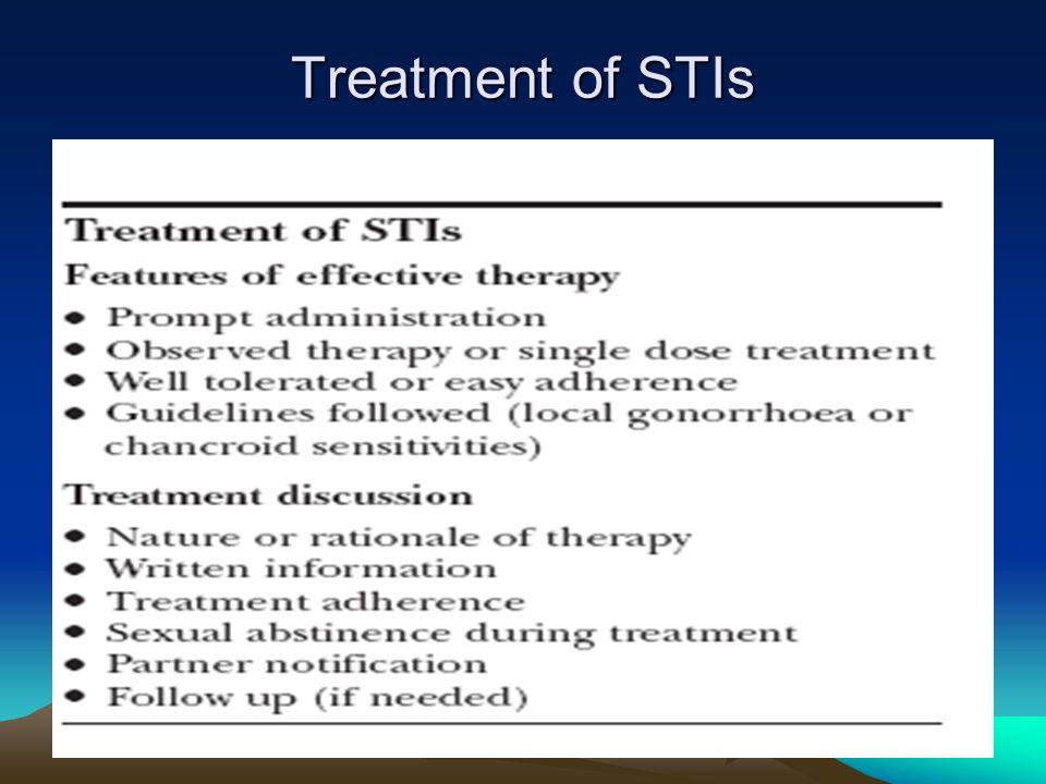 Treatment of STIs