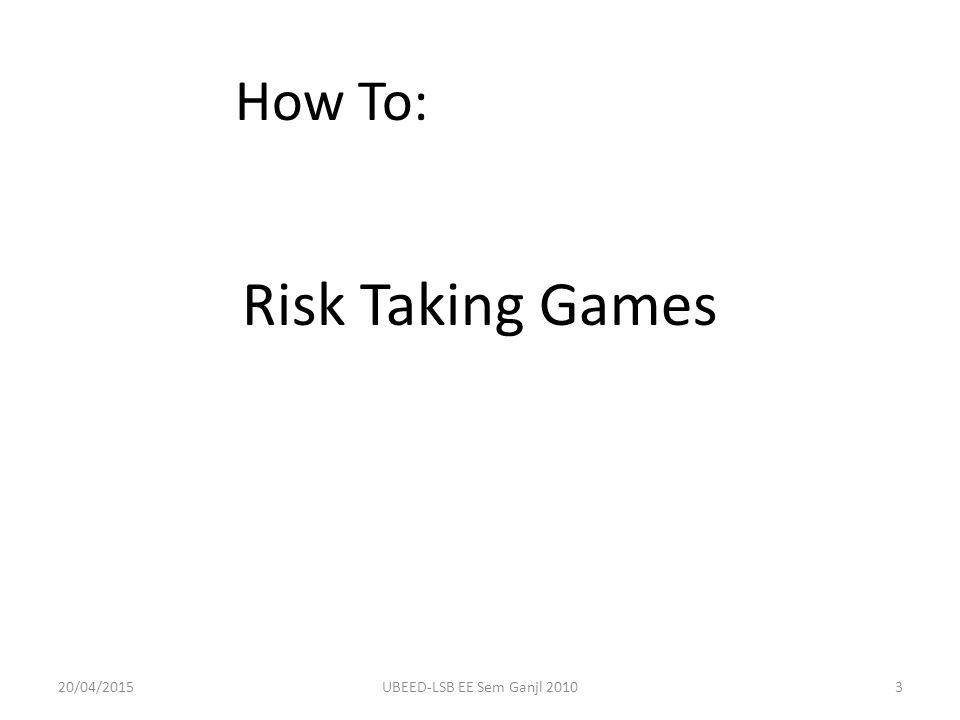 Konsep Risiko: Sebuah Pengantar Bagaimana Mengkalkulasi Risiko – Tentukan seberapa sering risiko tersebut terjadi (frekuensi atau probability) – Tentukan dampak yang timbul dari risiko yang terjadi (dampak) – Hitung kemungkinan prediksi kerugian, dengan formula: Frekuensi x Dampak 20/04/201514UBEED-LSB EE Sem Ganjl 2010