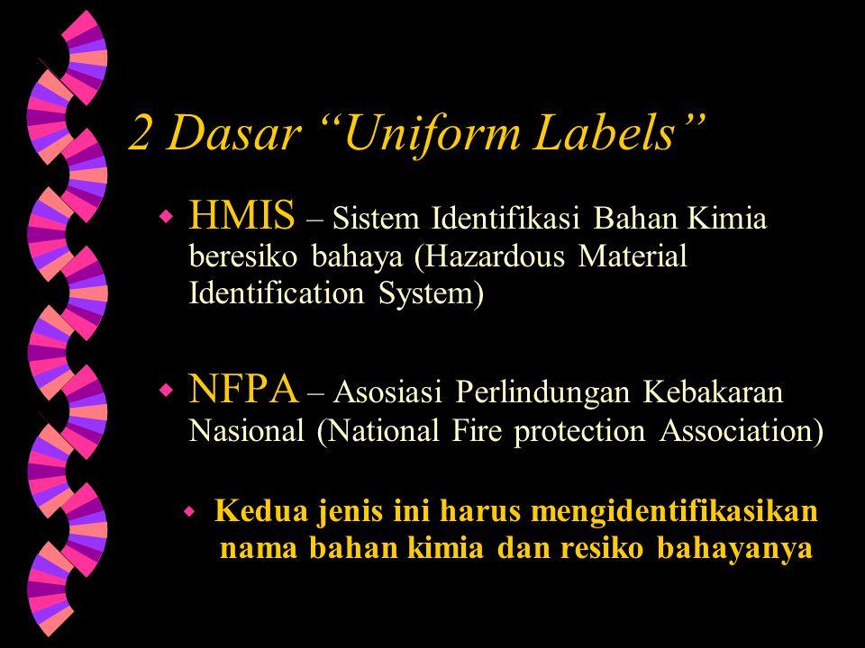 """Sistem penyeragaman label (Uniform Labeling System)… w Penyeragaman label (""""Uniform Labels"""") digunakan untuk memastikan bahwa perusahaan memiliki satu"""