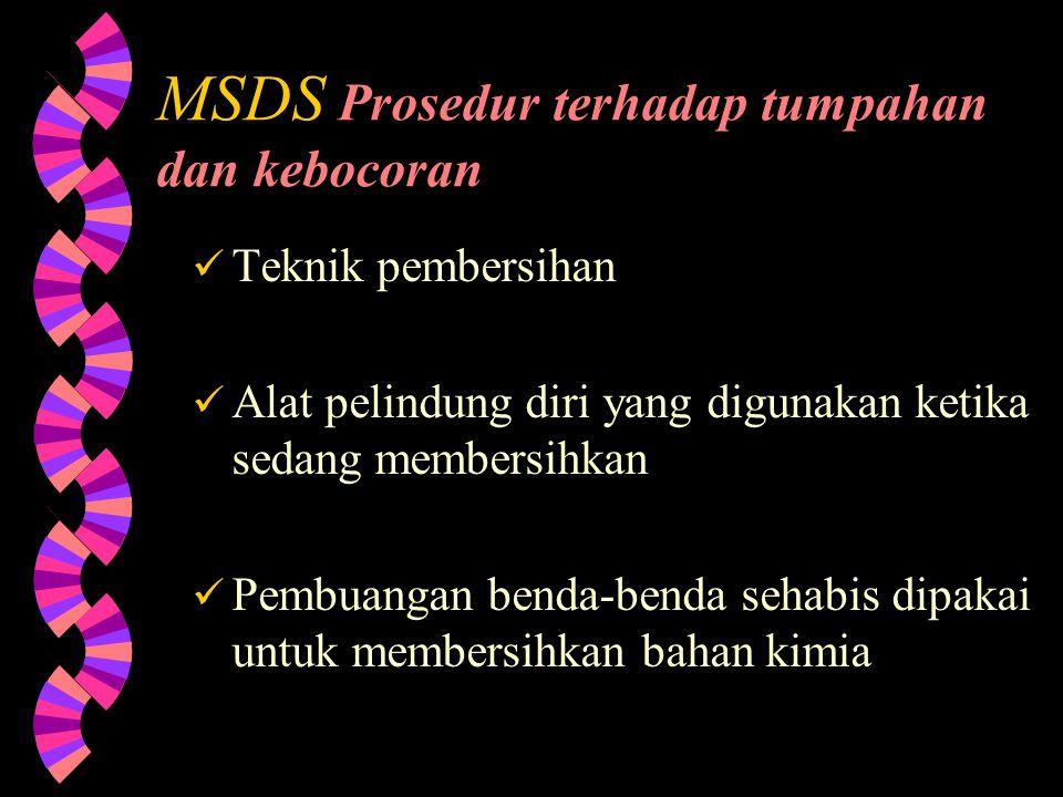MSDS Resiko bahaya terhadap Kesehatan Luka yang dapat ditolerir dan batas awalnya (Permissable Exposure and Threshold Limits/PEL & TLV) Gejala-gejala