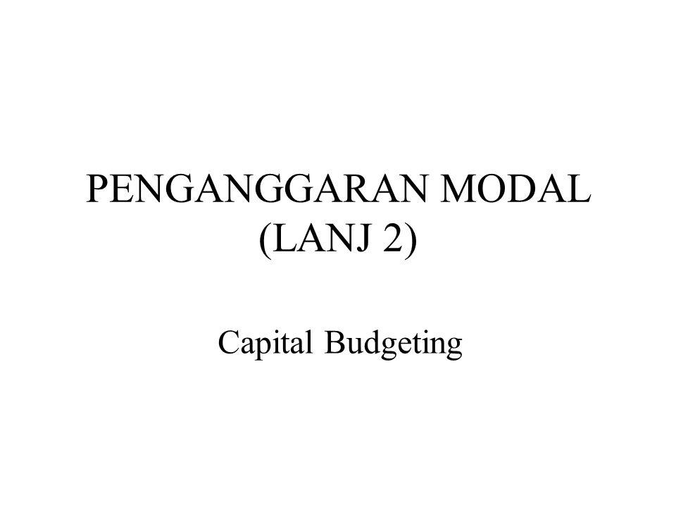 PENGANGGARAN MODAL (LANJ 2) Capital Budgeting