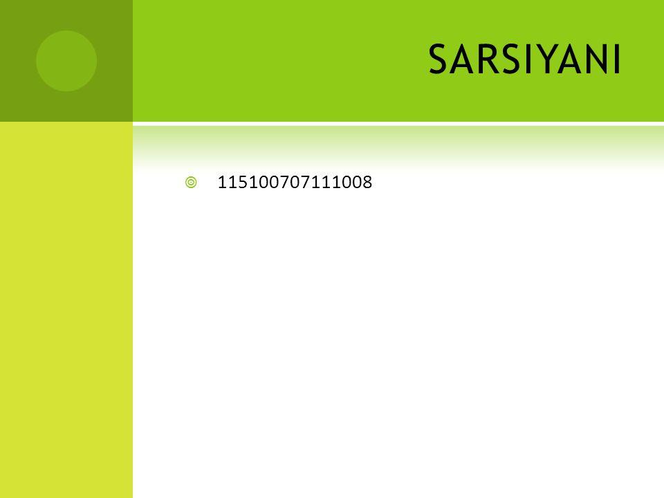 SARSIYANI  115100707111008