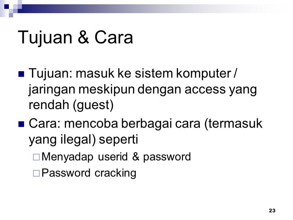 24 Mencari tahu tentang user Mencari nama user  Program / servis finger finger @nama.server  Melihat daftar email (dari mailing list, web)