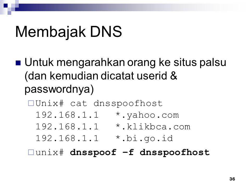 37 Proteksi Menggunakan enkripsi  telnet  ssh (secure shell)  ftp  scp (secure copy), winscp  … Mendeteksi usaha penyerangan dengan IDS