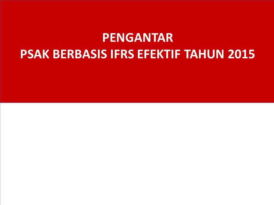 Agenda Standar Akuntansi di Indonesia 1. Perkembangan PSAK sd 2015 2. Overview Perubahan PSAK 3.