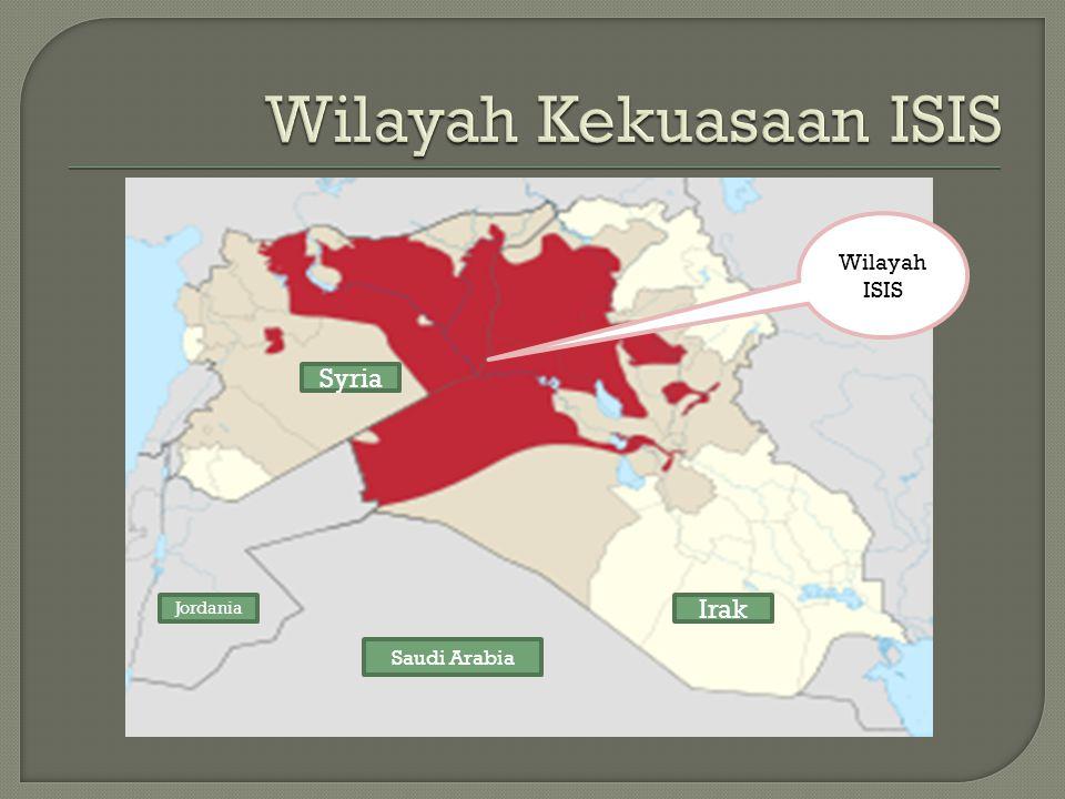 Wilayah ISIS Syria Jordania Saudi Arabia Irak
