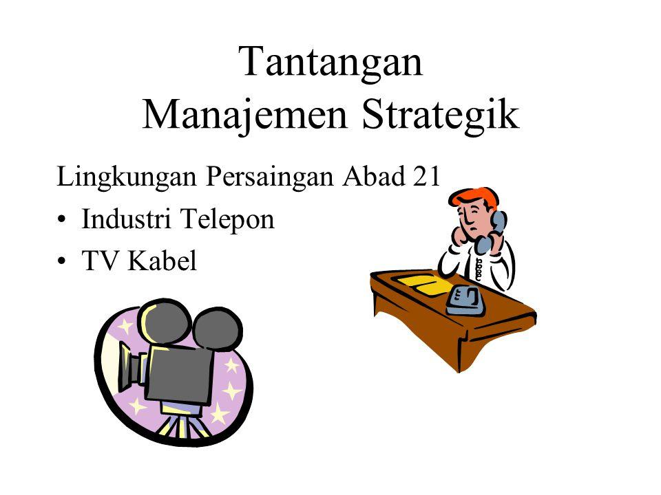 Tantangan Manajemen Strategik Lingkungan Persaingan Abad 21 Industri Telepon TV Kabel