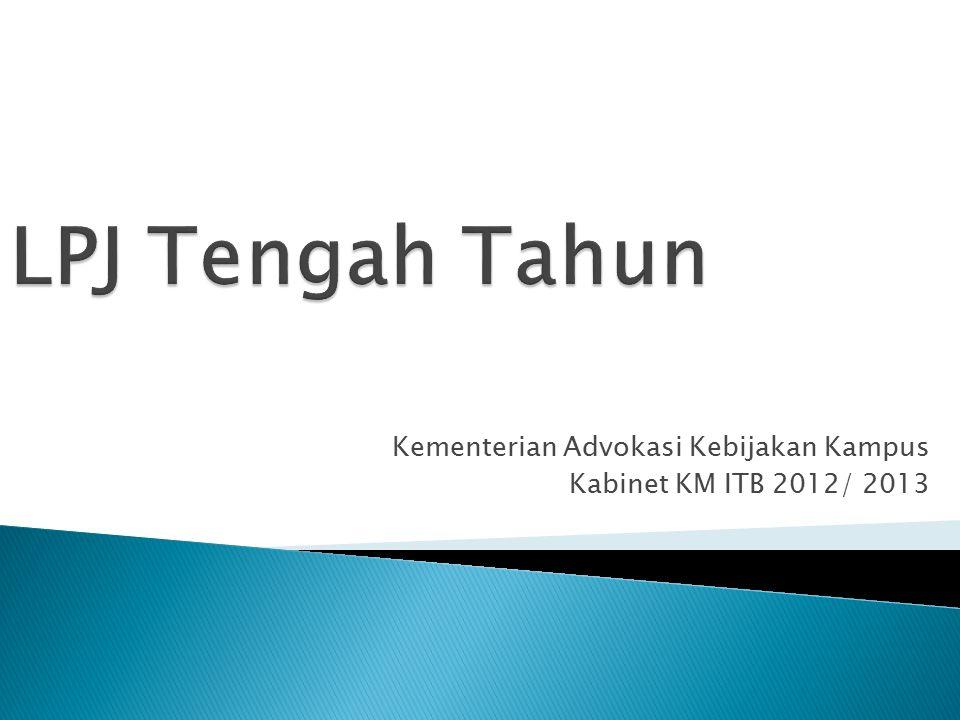 Kementerian Advokasi Kebijakan Kampus Kabinet KM ITB 2012/ 2013