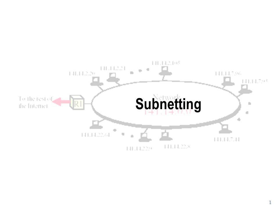 1 Subnetting