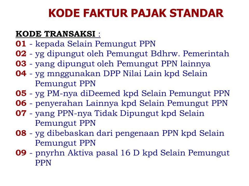 KODE STATUS ( 0-Normal, 1-Pengganti ) Konfirmasi tidak dapat dilakukan atas Faktur Pajak Standar yang telah diganti/dibatalkan.