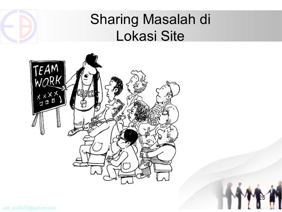 25 Sharing Masalah di Lokasi Site adi_sw2873@yahoo.com