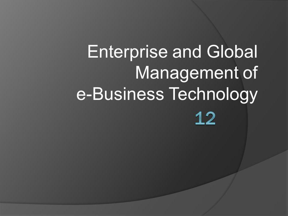Tujuan  Mengidentifikasi beberapa cara bahwa teknologi informasi telah mempengaruhi pekerjaan manajer dalam perusahaan e- bisnis.