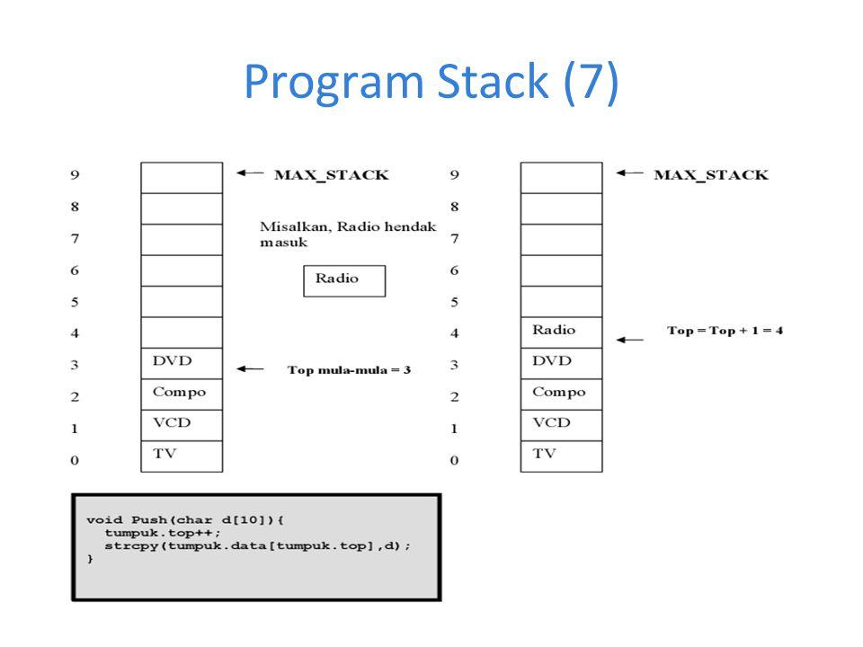 Program Stack (7)