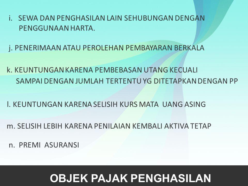 Non Objek Pajak Pasal 4 ayat (3)