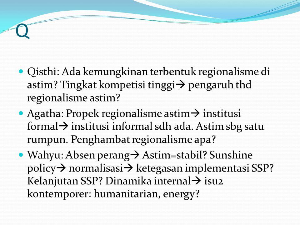 Q Qisthi: Ada kemungkinan terbentuk regionalisme di astim.