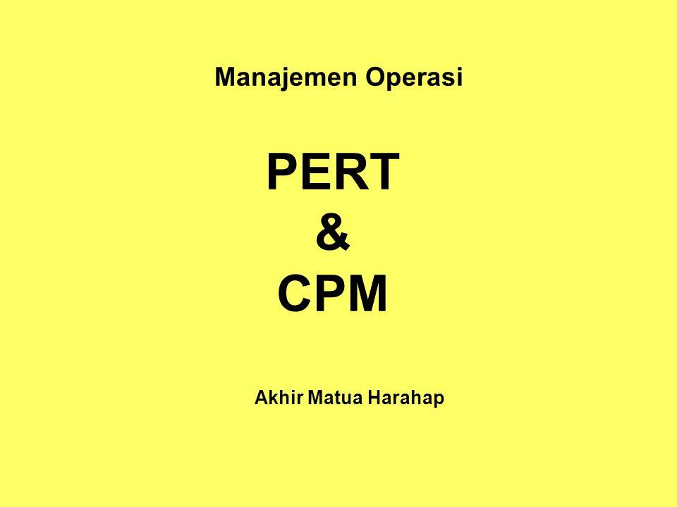 Manajemen Operasi PERT & CPM Akhir Matua Harahap