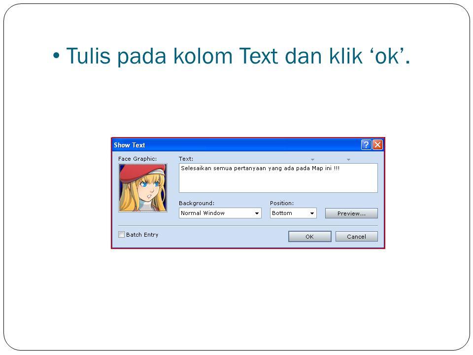 Pilih 'Show Text'