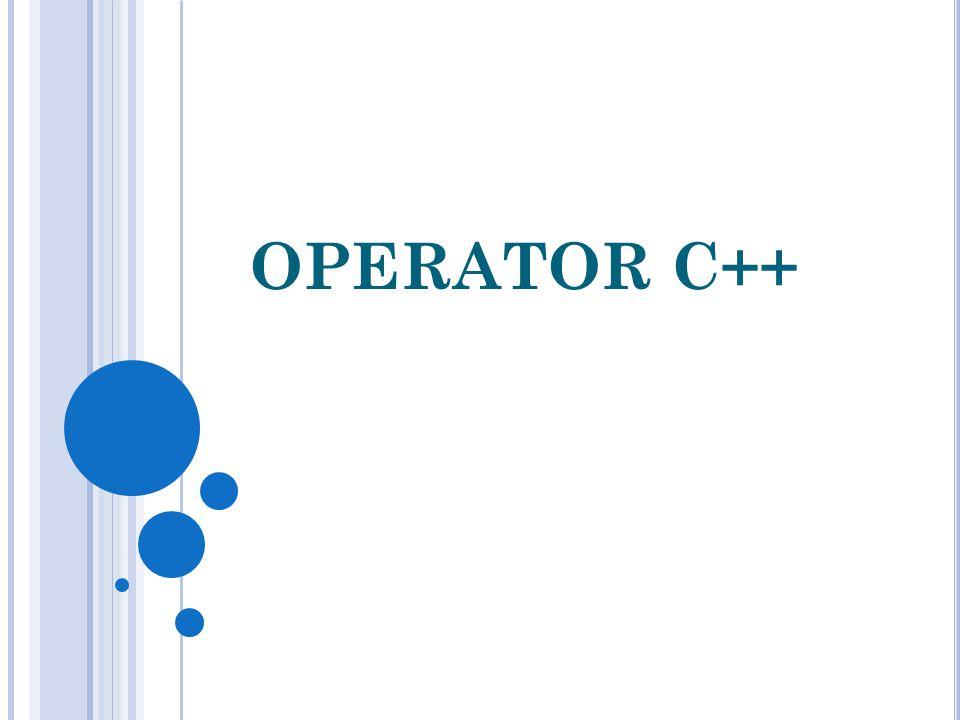 OPERATOR C++