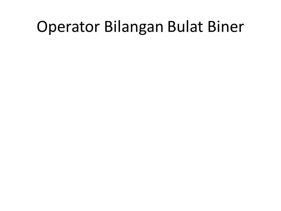 Operator Bilangan Bulat Biner