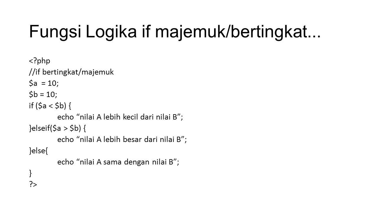 Fungsi Logika switch case...