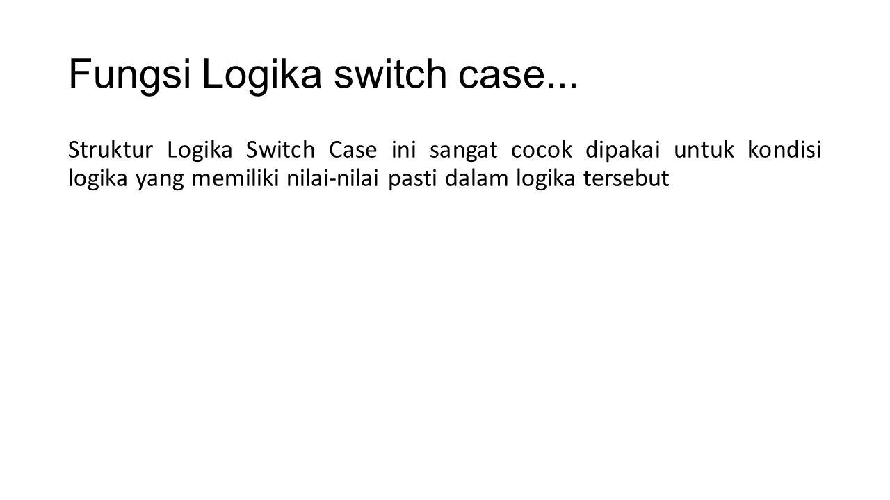 <?php $nilai = A ;//Ekspresi switch($nilai){ case A ; echo Sangat Memuaskan ;//pernyataan 1 break; case B ; echo Memuaskan ; //pernyataan 2 break; case C ; echo Cukup ; //pernyataan 3 break; default echo Kurang ; //pernyataan terakhir (diluar pilihan case) } ?>