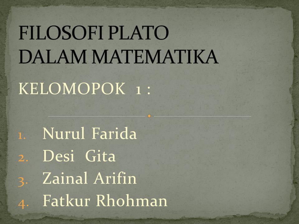 KELOMOPOK 1 : 1. Nurul Farida 2. Desi Gita 3. Zainal Arifin 4. Fatkur Rhohman