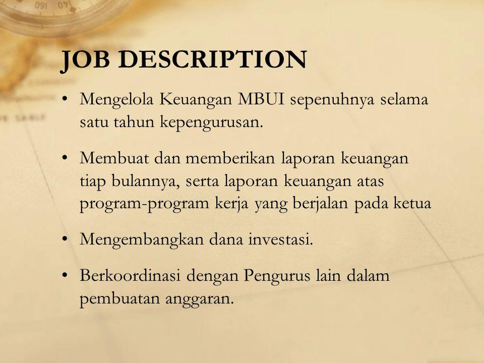 KEUANGAN Manajer Keuangan : Prawira Adi Putra Staff Keuangan : Emi Resmiati