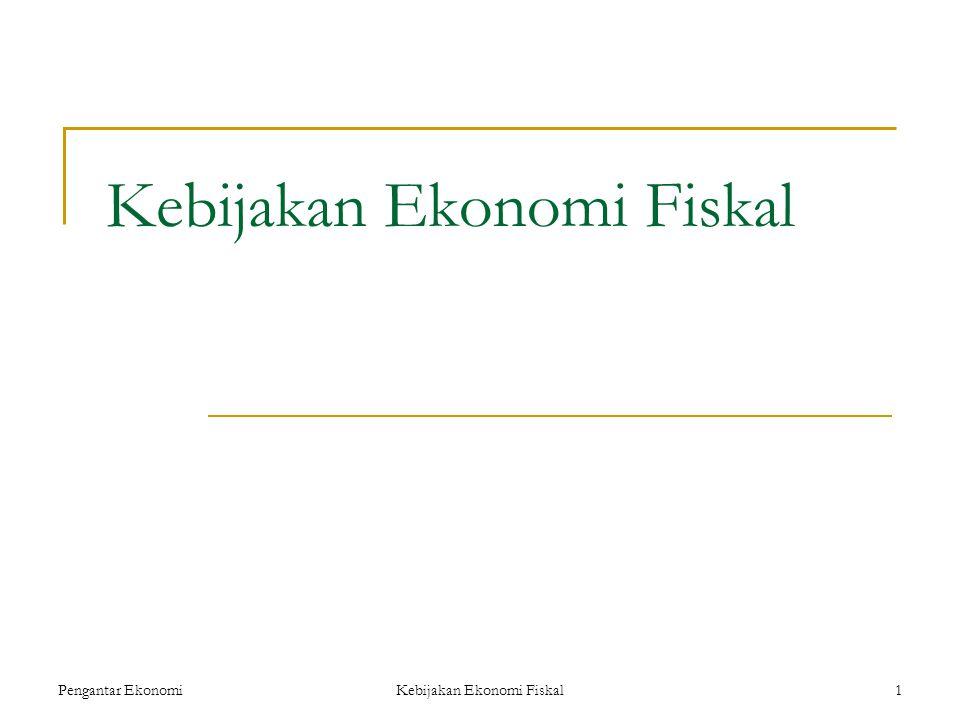 Kebijakan Ekonomi Fiskal Pengantar Ekonomi1 Kebijakan Ekonomi Fiskal