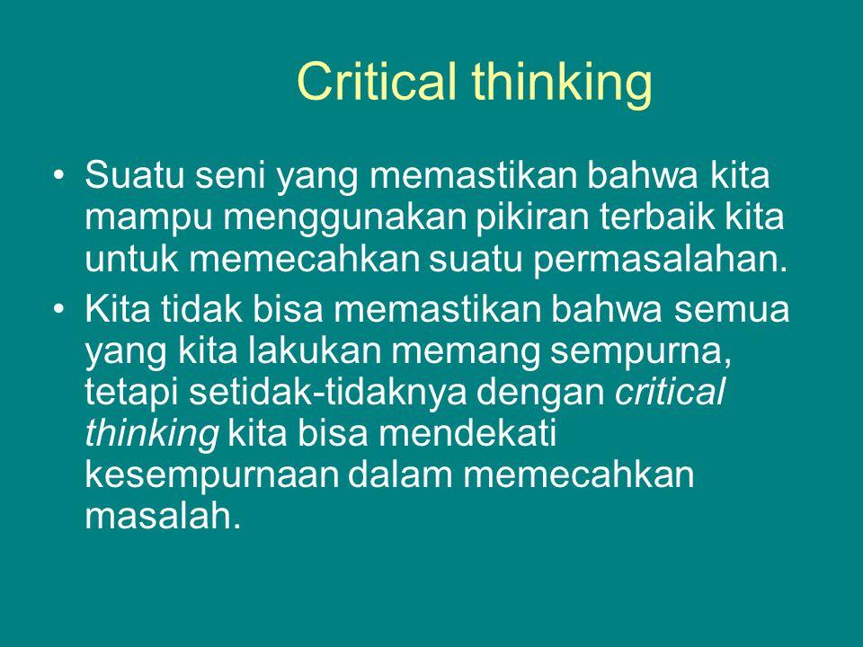 Proses berpikir merupakan hal yang natural pada manusia.