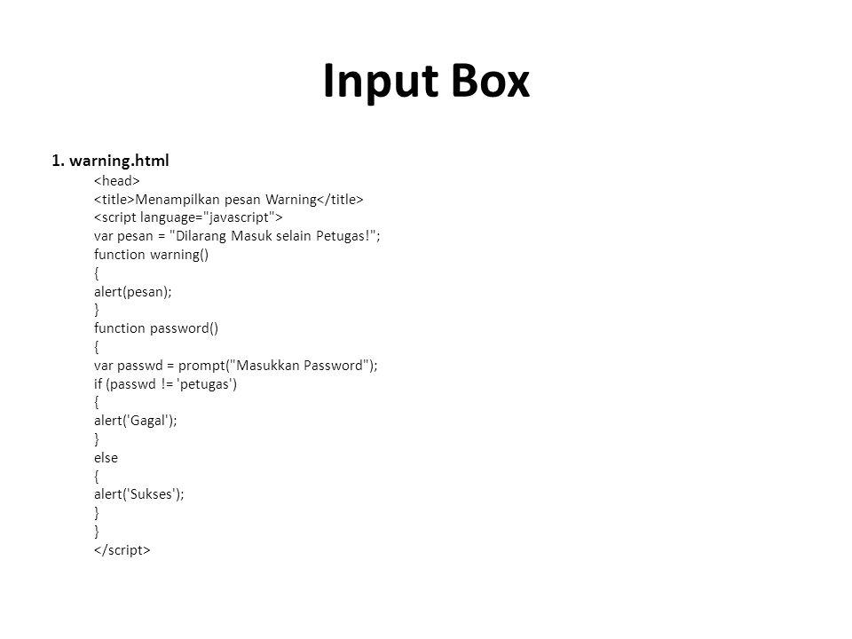 Input Box 1.