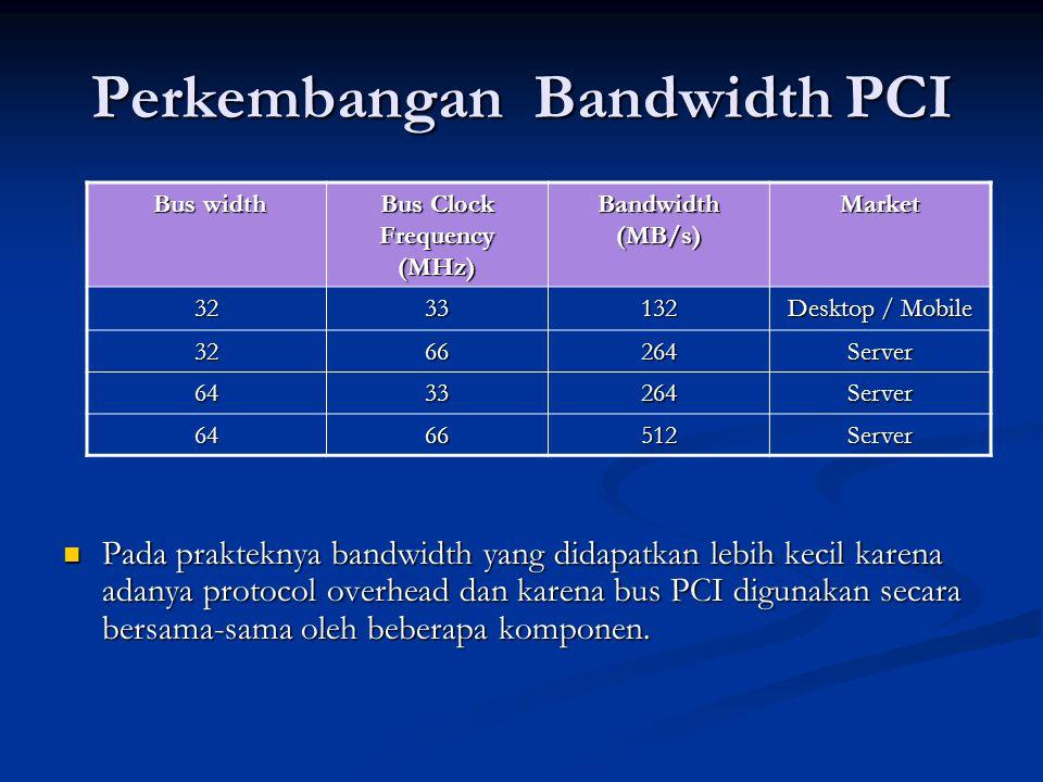 Usaha untuk meningkatkan bandwidth Meningkatkan frekuensi pada PCI.