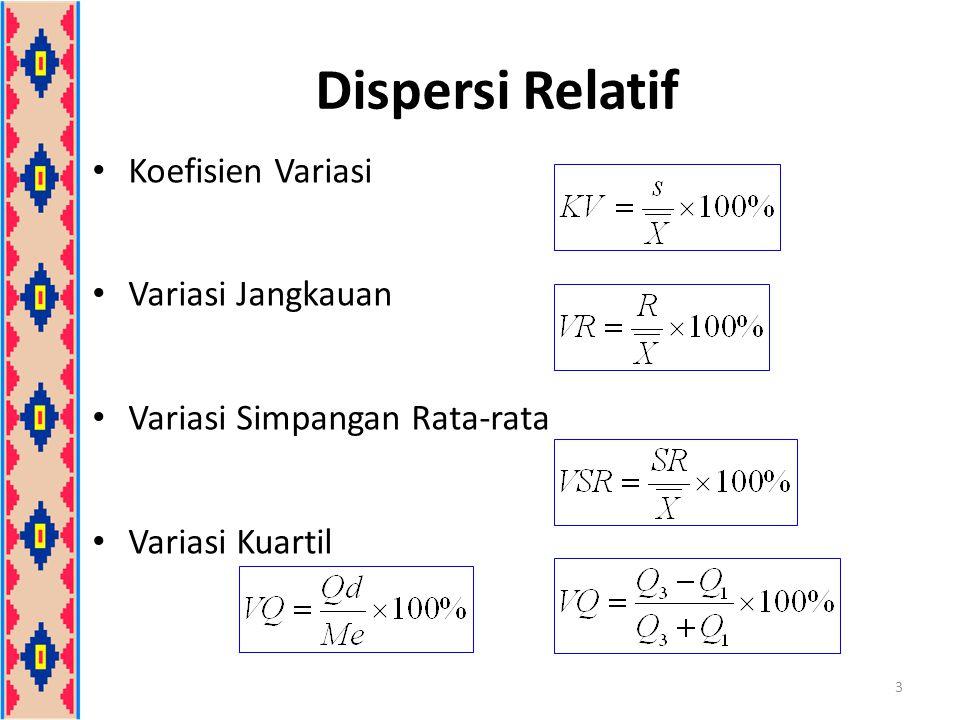 Kecondongan (Skewness) Ukuran kecondongan adalah tingkat ketidaksimetrisan dari suatu distribusi 4 Kurva condong positifKurva condong negatif Kurva simetris