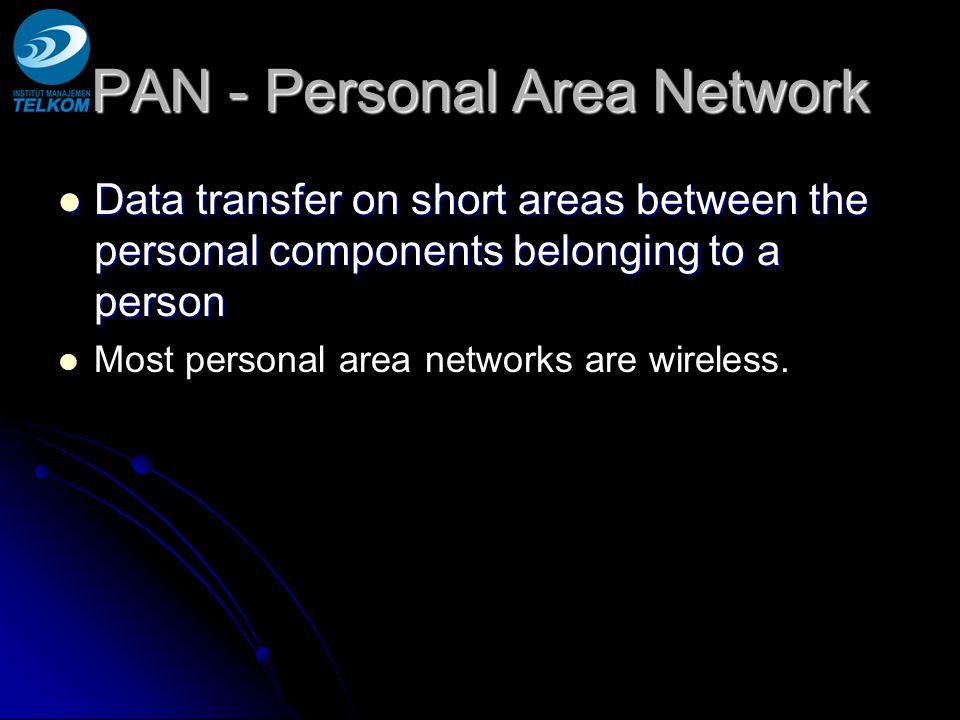 Wireless WAN: 1G, 2G, 2.5G, 3G, 4G Generations / versions.