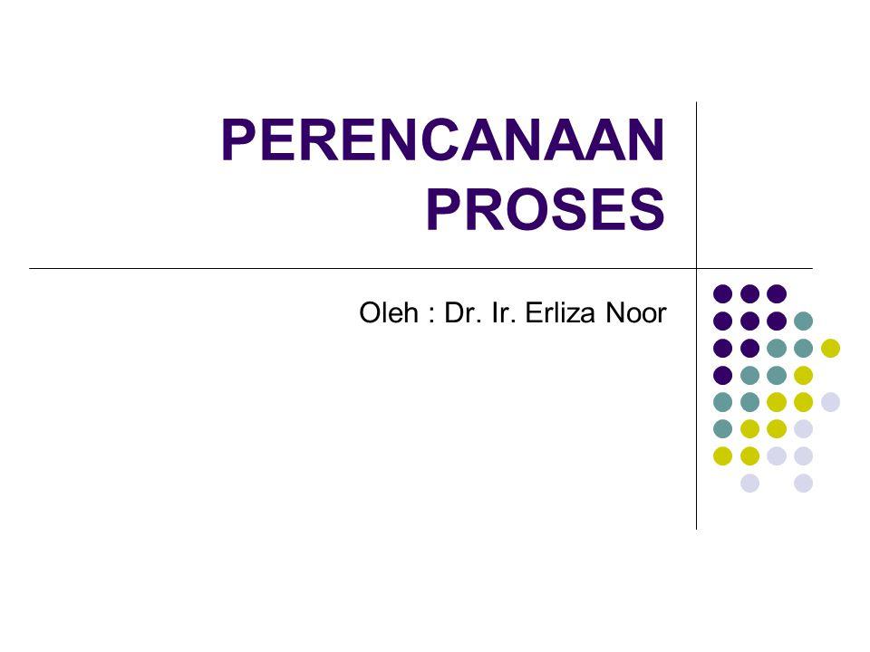 PERENCANAAN PROSES Oleh : Dr. Ir. Erliza Noor
