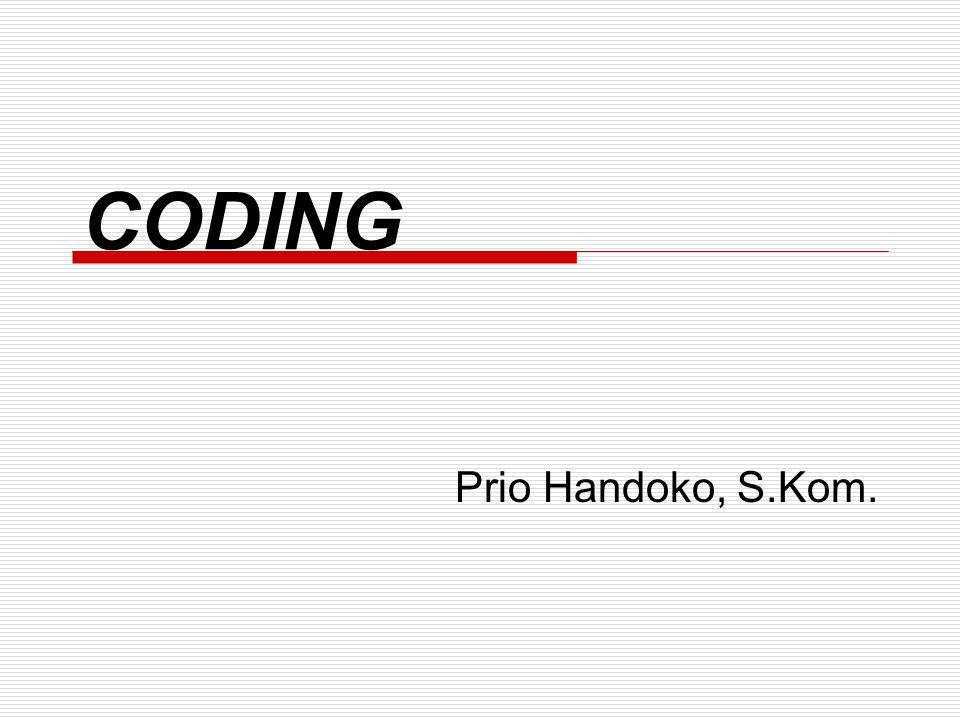 CODING Prio Handoko, S.Kom.