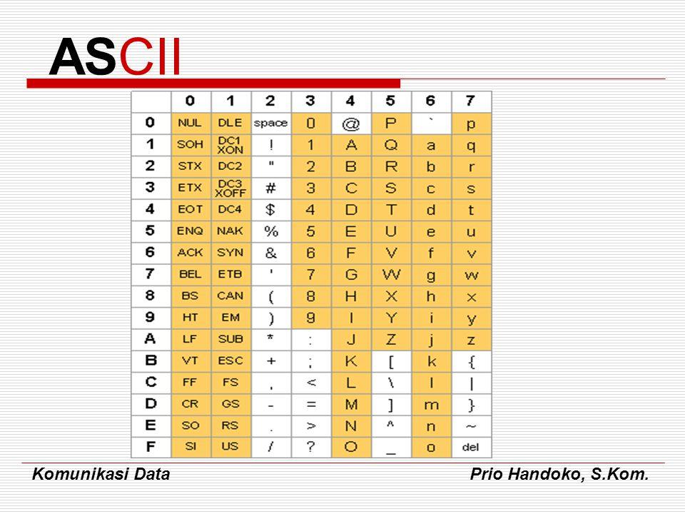 Komunikasi Data Prio Handoko, S.Kom. ASCII